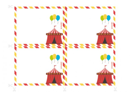Birthday party invitations to print - Mystery at the circus